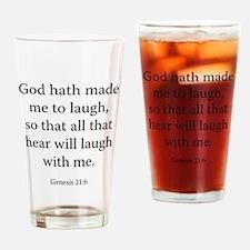 Genesis 21:6 Drinking Glass