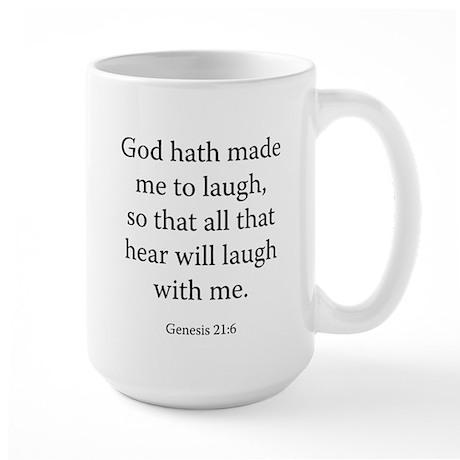 Genesis 21:6 Large Mug