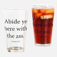 Genesis 22:5 Drinking Glass