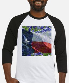 Texas state flag with bluebonnets Baseball Jersey