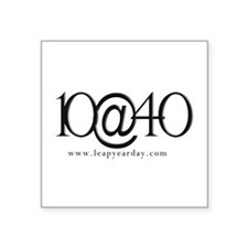 "10@40 Square Sticker 3"" X 3"""