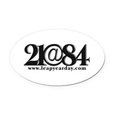 21@84 Oval Car Magnet