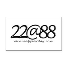 22@88 Rectangle Car Magnet