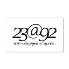 23lucidaCaligraphy.jpg Rectangle Car Magnet