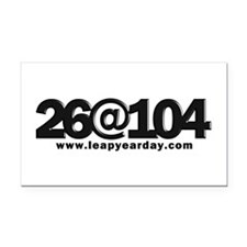26@104 Rectangle Car Magnet