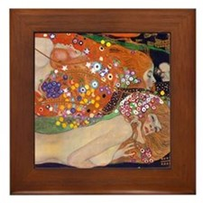 Gustav Klimt Water Serpents Framed Tile