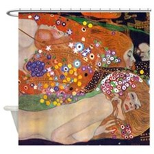 Gustav Klimt Water Serpents Shower Curtain