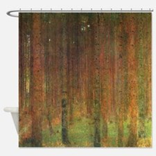 Gustav Klimt Tannenwald II Shower Curtain