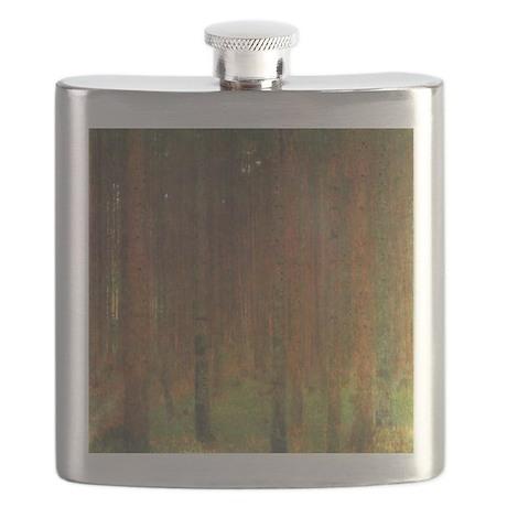 Gustav Klimt Tannenwald II Flask