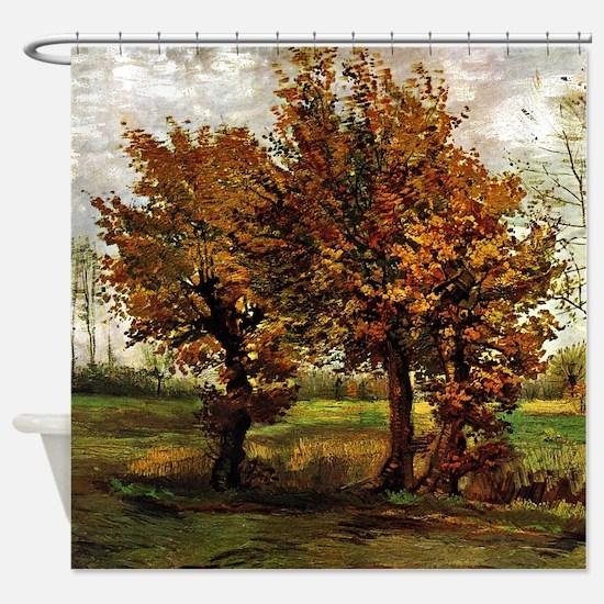 Van Gogh Autumn Landscape Shower Curtain