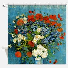 Van Gogh Cornflowers And Poppies Shower Curtain