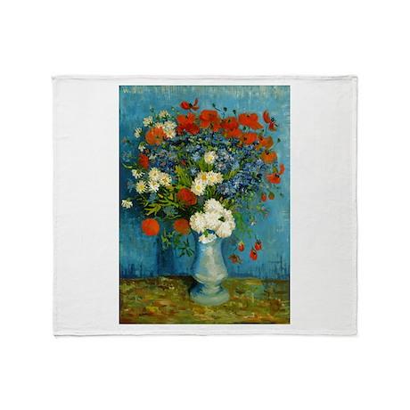 Van Gogh Cornflowers And Poppies Throw Blanket