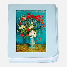 Van Gogh Cornflowers And Poppies baby blanket