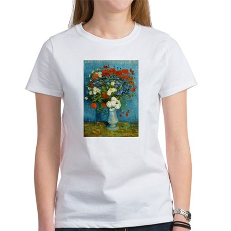 Van Gogh Cornflowers And Poppies Women's T-Shirt