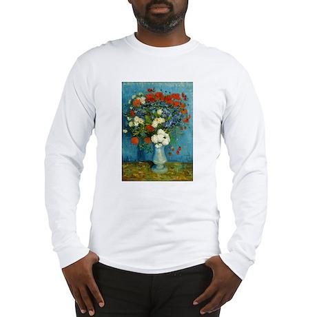 Van Gogh Cornflowers And Poppies Long Sleeve T-Shi