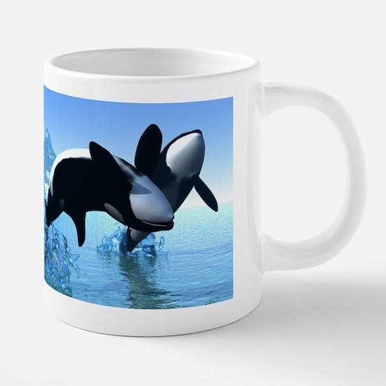 Dolphins and Orca's 20 oz Ceramic Mega Mug