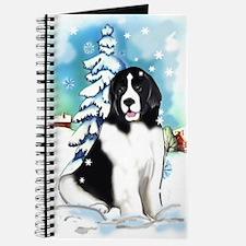 Winter scene with Newf Journal