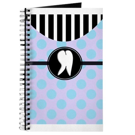 Hygienst tooth blue polka dots.PNG Journal