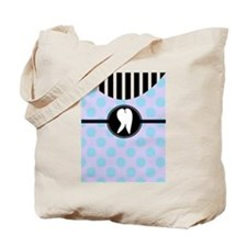 Hygienst tooth blue polka dots.PNG Tote Bag