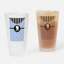 Hygienst tooth blue polka dots.PNG Drinking Glass