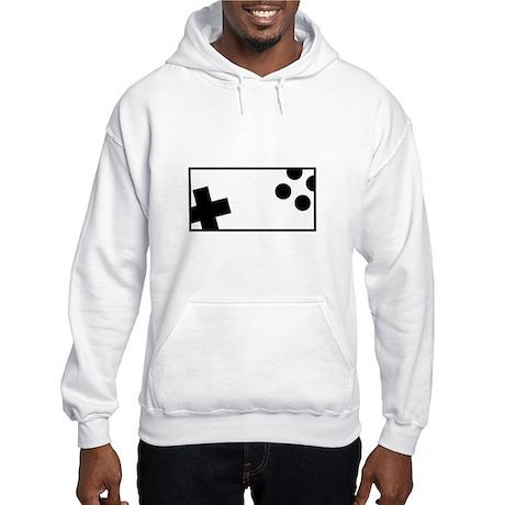 Retro Controller black Hooded Sweatshirt