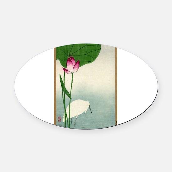 White Heron And Lotus - Baison - 1890 - woodcut Ov