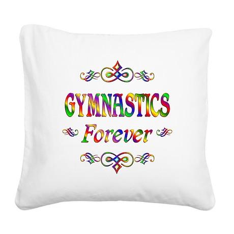 Gymnastics Forever Square Canvas Pillow
