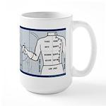 Fencing Blue Stripe Large Mug