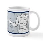 Fencing Blue Stripe Mug