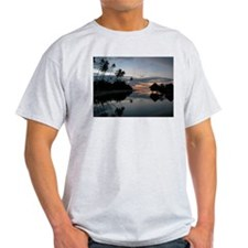 Moorea Sunset Ash Grey T-Shirt