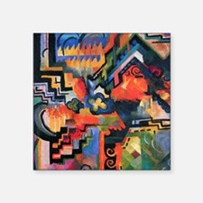 "August Macke Colored Composition Square Sticker 3"""