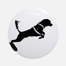 Portuguese Water Dog Jump Ornament (Round)