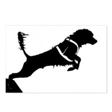 Portuguese Water Dog Jump Postcards (Package of 8)