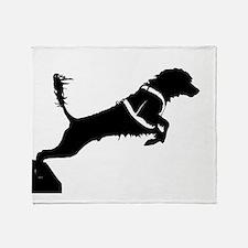 Portuguese Water Dog Jump Throw Blanket