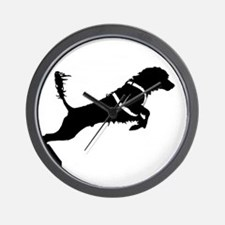 Portuguese Water Dog Jump Wall Clock
