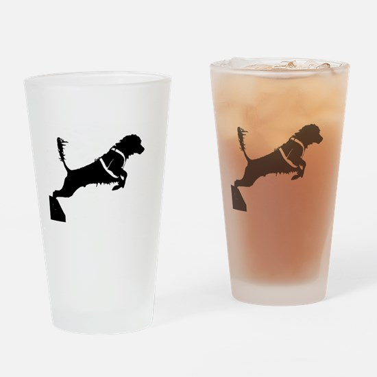 Portuguese Water Dog Jump Drinking Glass