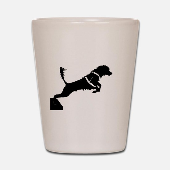 Portuguese Water Dog Jump Shot Glass