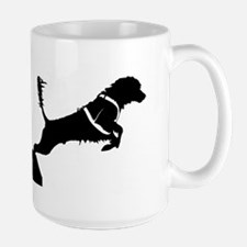 Portuguese Water Dog Jump Large Mug