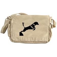 Portuguese Water Dog Jump Messenger Bag