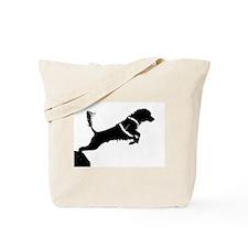 Portuguese Water Dog Jump Tote Bag
