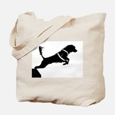 Portuguese Water Dog Jump Tote Bag