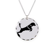 Portuguese Water Dog Jump Necklace