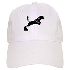 Portuguese Water Dog Jump Baseball Cap