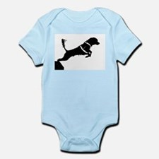 Portuguese Water Dog Jump Infant Bodysuit