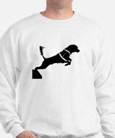 Portuguese Water Dog Jump Sweatshirt