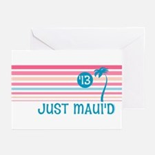 Stripe Just Maui'd '13 Greeting Cards (Pk of 20)