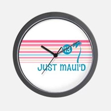 Stripe Just Maui'd '13 Wall Clock