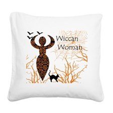 Wiccan Woman - halloween Square Canvas Pillow