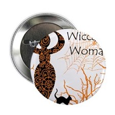 """Wiccan Woman - halloween 2.25"""" Button"""
