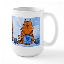 Knitting Kitty Mug